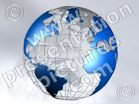 3d globe wireframe - powerpoint graphics