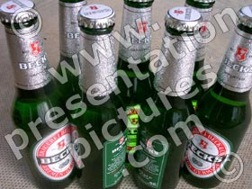 beer bottled - powerpoint graphics