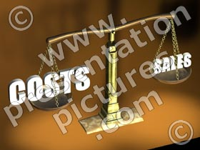 big costs scales - powerpoint graphics