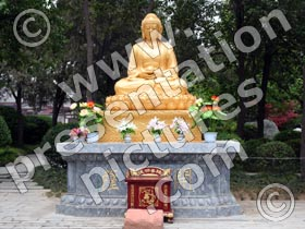 buddhist temple buddha - powerpoint graphics