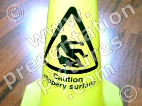 caution slippery floor - powerpoint graphics