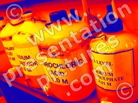 chemical bottles - powerpoint graphics