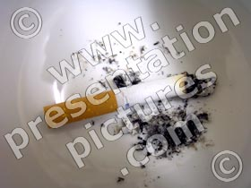 cigarette in ashtray - powerpoint graphics