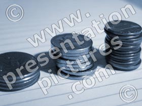 coins usa stack side - powerpoint graphics