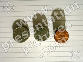coins usa - powerpoint graphics