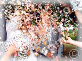confetti shower - powerpoint graphics