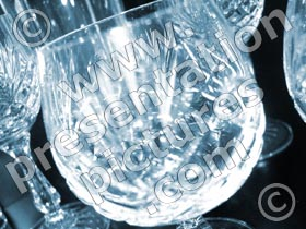 crystal glass - powerpoint graphics