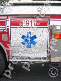 dial 911 fire truck - powerpoint graphics