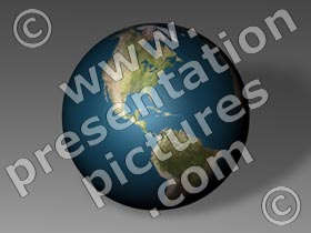 earth globe americas - powerpoint graphics
