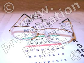 eye test and glasses - powerpoint graphics