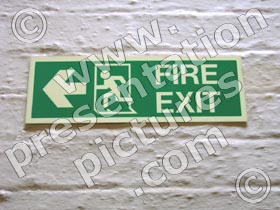 fire exit sign - powerpoint graphics