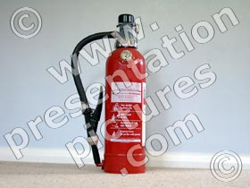 fire extinguisher - powerpoint graphics
