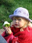 girl eating apple - powerpoint graphics
