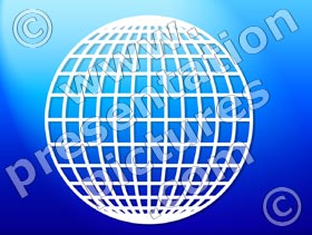 globe grid - powerpoint graphics