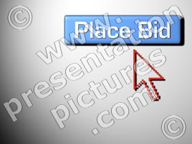 internet auction - powerpoint graphics