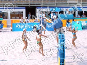 olympics athens beach volleyball - powerpoint graphics