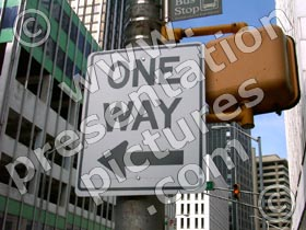 one way sign - powerpoint graphics