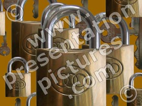 padlocks - powerpoint graphics