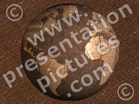 rusty globe - powerpoint graphics
