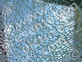 shattered safety glass - powerpoint graphics