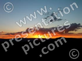 sunset - powerpoint graphics