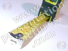 tape measure - powerpoint graphics